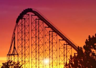 rollercoastersunset